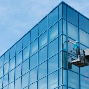 Fensterputzer-Steiger